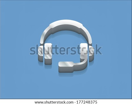 3d  illustration of support icon - stock photo