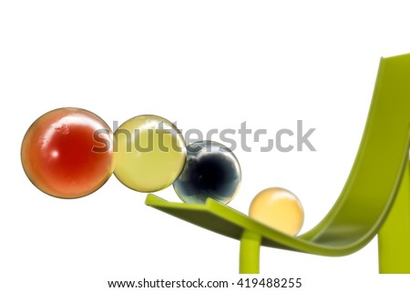 3d illustration of sweet gumballs isolated on white background - stock photo