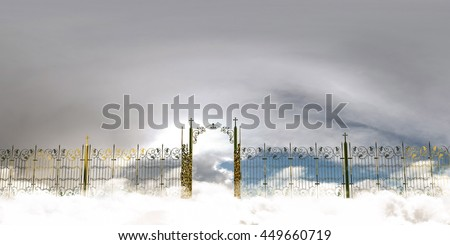 3d illustration of the amazing heaven gate  - stock photo