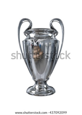 3d illustration of the champions cup isolated on white background - stock photo
