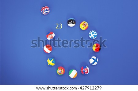 3D illustration of the referendum in England - Brexit on 23 june 2016 - stock photo