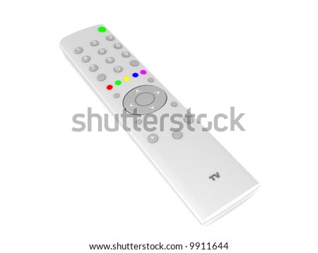 3d illustration of tv control isolated - stock photo