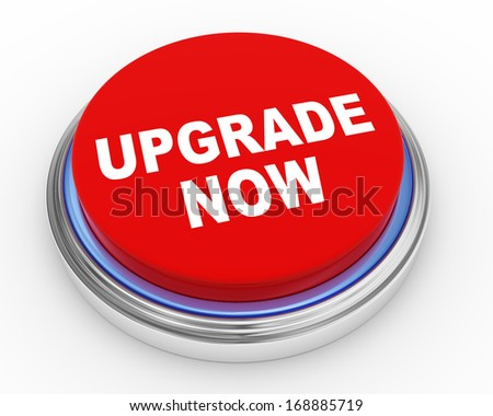 3d illustration of upgrade now button - stock photo