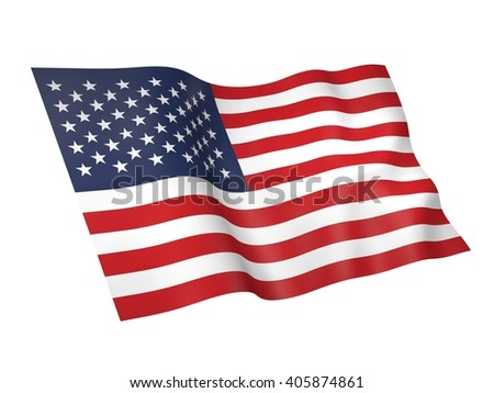 3D illustration of USA flag