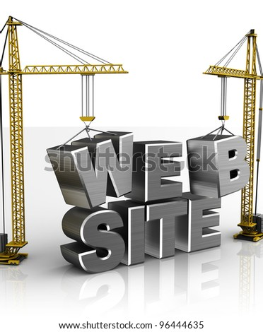 3d illustration of web construction concept - stock photo