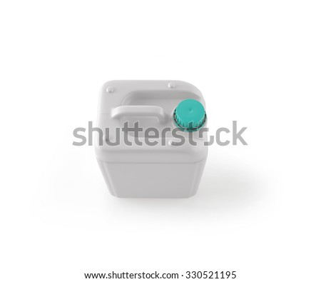 3d illustration of white plastic jerrycan isolated on white background