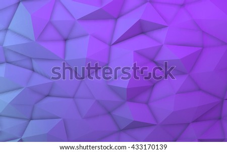 3D illustration - Purple low poly texture - stock photo