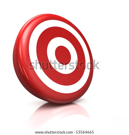 3d illustration/render of a red target - stock photo