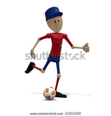 3d illustration/rendering of a spanish soccer player - stock photo