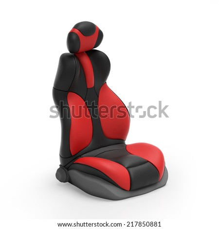 3d illustration. Sports car seat on mebom background - stock photo