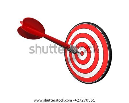 3D illustration target - stock photo