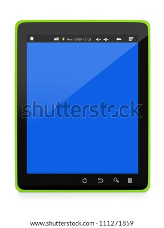 3d illustration: Technology and Electronics. Design Tablet PC