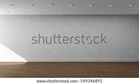 3d illustration template for advertisement, banner, presentation, wall painting with white wall