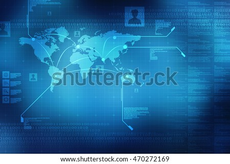 2d illustration World Map Business background