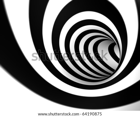 3D image background with swirl or tunnel - stock photo