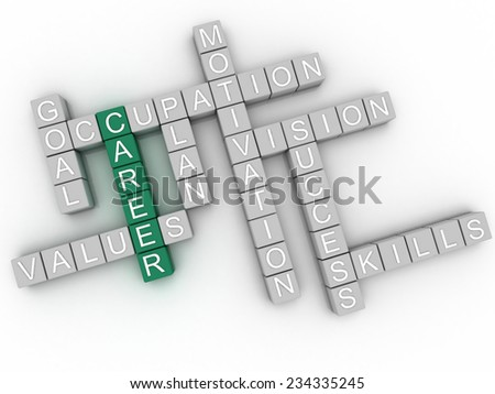 3d image Career  issues concept word cloud background - stock photo
