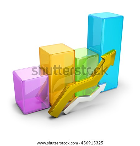 3d image. Concept statistics. Isolated white background.