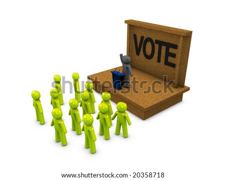 3d image, conceptual political campaign - stock photo