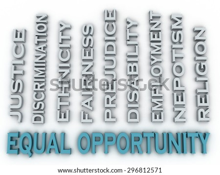 3d image Equal opportunity issues concept word cloud background - stock photo