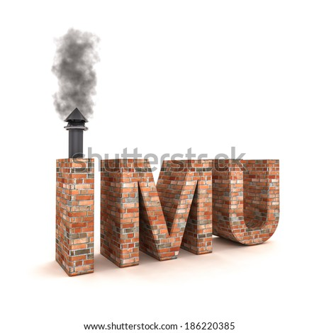 4d image IMU - Imposta municipale unica(italian tax on homes) - stock photo