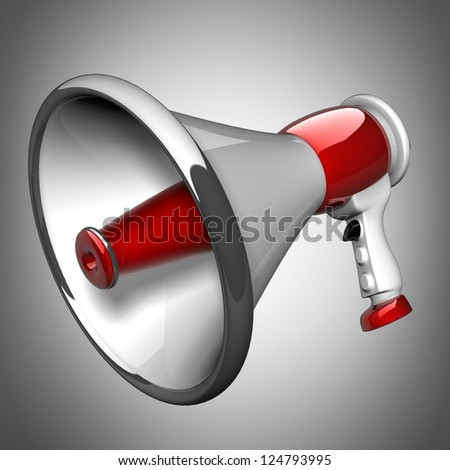 3D image. megaphone. High resolution