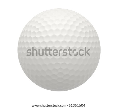 3d image of a isolated golf ball - stock photo