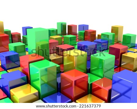 3D image of box abstract background - stock photo