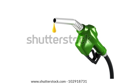 3d image of fuel nozzle with oil drop