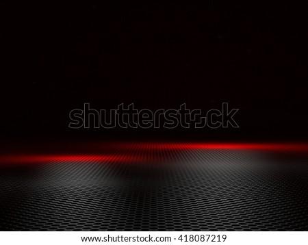 3d image of geometric metal plate - stock photo