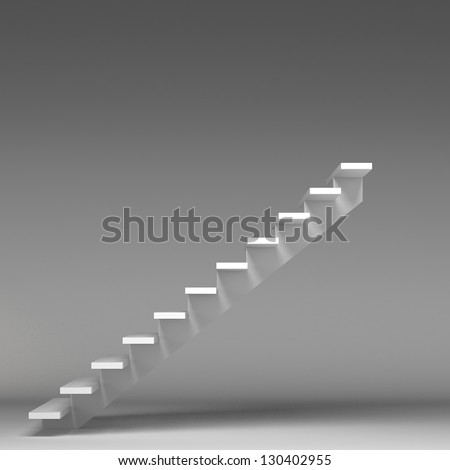 3D image of stairway - stock photo
