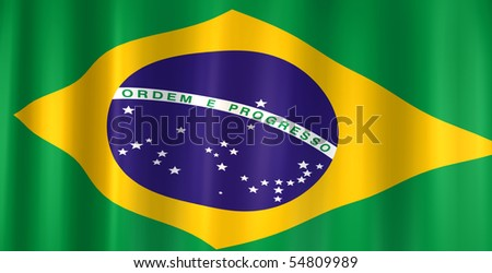 3D image of the flag from Brazil.