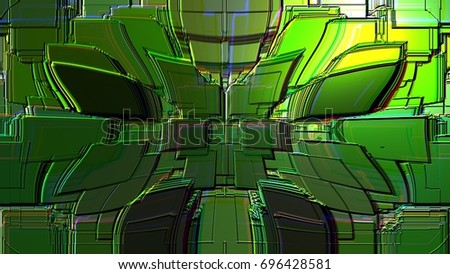3d image of the geometric forms of the background image