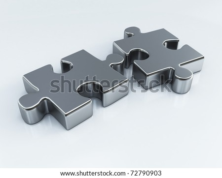 3d image on white background - stock photo