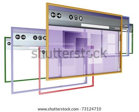 3d image on white background - stock photo