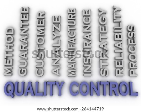 3d image quality control  issues concept word cloud background - stock photo