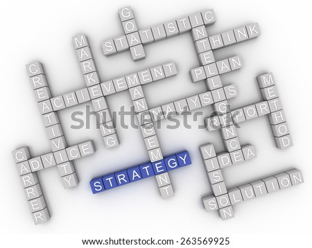 3d image Strategy  issues concept word cloud background