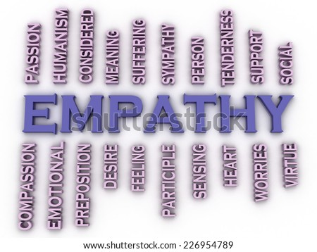 3d imagen Emphaty issues concept word cloud background - stock photo