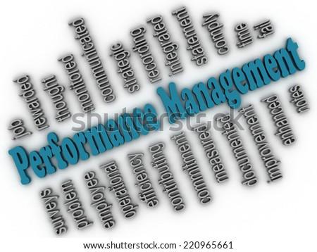 3d imagen Performance Management concept word cloud background - stock photo