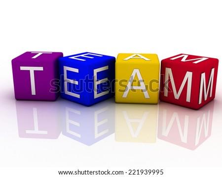 3d imagen Team concept word cloud background - stock photo