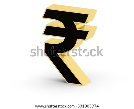 3 D Indian Rupee Currency Symbol Stock Illustration 331005974