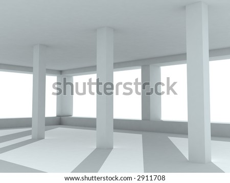 3d--interior - stock photo
