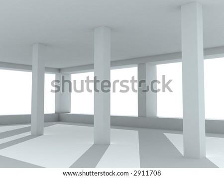 3d--interior - stock photo