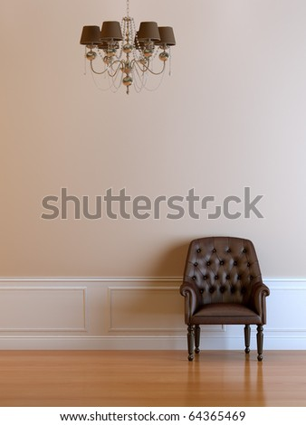 3d interior composition and classic stile - stock photo