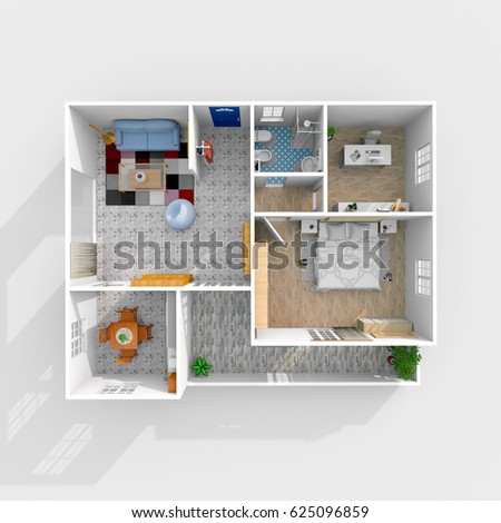 Interior house design 3d