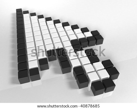 3d internet cursor - stock photo