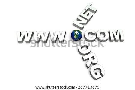 3D. Internet, Design, www. - stock photo
