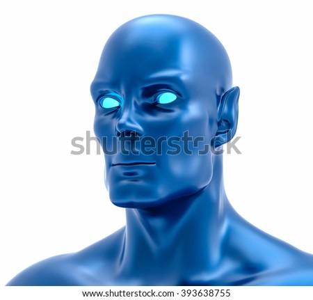 3D Isolated Fiction Humanoid Illustration. Fantasy Concept. - stock photo