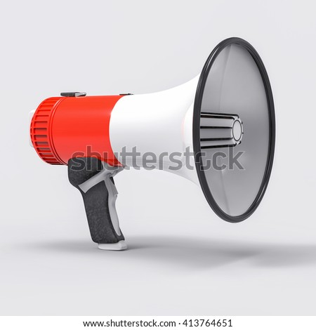 3D Isolated Megaphone Illustration. Communication or Alert Concept. - stock photo