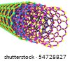 3D isolated nanotube rendering image - stock photo