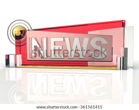 3D Isolated News Graphic Background. Information Concept.